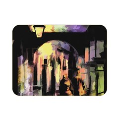 Street Colorful Abstract People Double Sided Flano Blanket (mini)