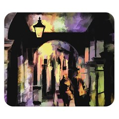 Street Colorful Abstract People Double Sided Flano Blanket (small)