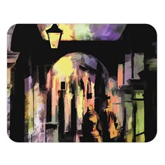 Street Colorful Abstract People Double Sided Flano Blanket (large)