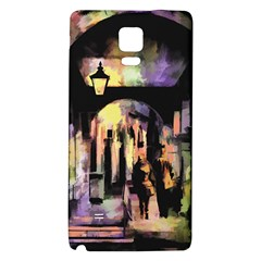 Street Colorful Abstract People Galaxy Note 4 Back Case
