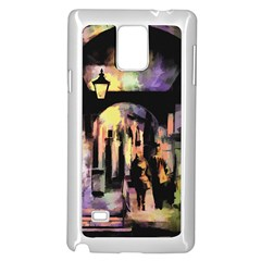 Street Colorful Abstract People Samsung Galaxy Note 4 Case (white)