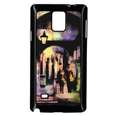 Street Colorful Abstract People Samsung Galaxy Note 4 Case (black)