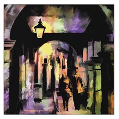 Street Colorful Abstract People Large Satin Scarf (square)