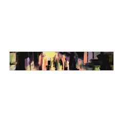 Street Colorful Abstract People Flano Scarf (mini)
