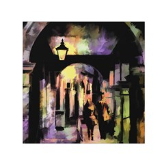 Street Colorful Abstract People Small Satin Scarf (square)