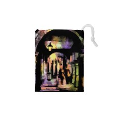 Street Colorful Abstract People Drawstring Pouches (xs)