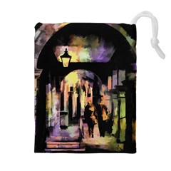Street Colorful Abstract People Drawstring Pouches (extra Large)