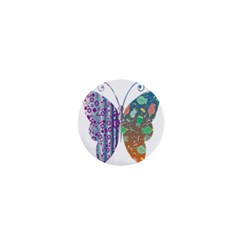 Vintage Style Floral Butterfly 1  Mini Buttons