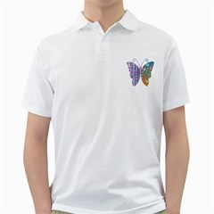 Vintage Style Floral Butterfly Golf Shirts
