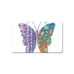 Vintage Style Floral Butterfly Magnet (name Card)