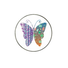 Vintage Style Floral Butterfly Hat Clip Ball Marker (4 Pack)