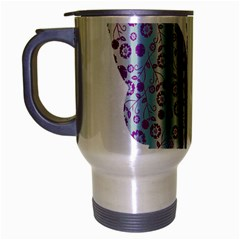 Vintage Style Floral Butterfly Travel Mug (silver Gray)