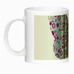 Vintage Style Floral Butterfly Night Luminous Mugs