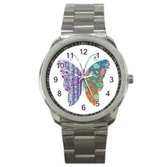 Vintage Style Floral Butterfly Sport Metal Watch