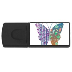 Vintage Style Floral Butterfly Usb Flash Drive Rectangular (4 Gb)