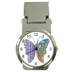 Vintage Style Floral Butterfly Money Clip Watches