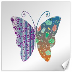 Vintage Style Floral Butterfly Canvas 20  X 20