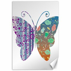 Vintage Style Floral Butterfly Canvas 20  x 30