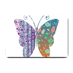Vintage Style Floral Butterfly Small Doormat