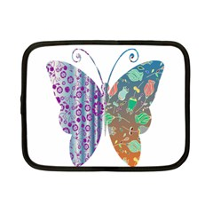 Vintage Style Floral Butterfly Netbook Case (small)