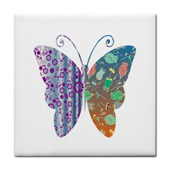 Vintage Style Floral Butterfly Face Towel