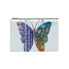 Vintage Style Floral Butterfly Cosmetic Bag (medium)
