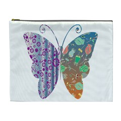 Vintage Style Floral Butterfly Cosmetic Bag (xl)