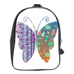 Vintage Style Floral Butterfly School Bags(large)