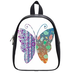 Vintage Style Floral Butterfly School Bags (small)