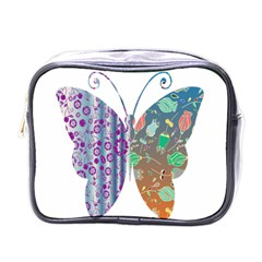 Vintage Style Floral Butterfly Mini Toiletries Bags