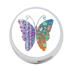 Vintage Style Floral Butterfly 4 Port Usb Hub (two Sides)
