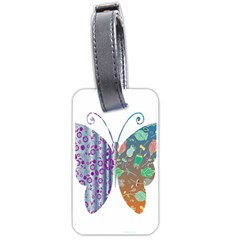 Vintage Style Floral Butterfly Luggage Tags (one Side)