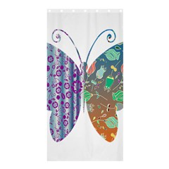 Vintage Style Floral Butterfly Shower Curtain 36  x 72  (Stall)