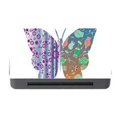 Vintage Style Floral Butterfly Memory Card Reader With Cf