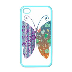Vintage Style Floral Butterfly Apple Iphone 4 Case (color)