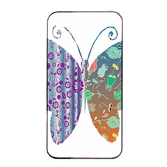 Vintage Style Floral Butterfly Apple Iphone 4/4s Seamless Case (black)