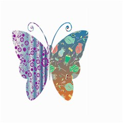 Vintage Style Floral Butterfly Large Garden Flag (two Sides)