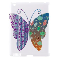 Vintage Style Floral Butterfly Apple Ipad 3/4 Hardshell Case (compatible With Smart Cover)