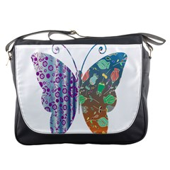 Vintage Style Floral Butterfly Messenger Bags