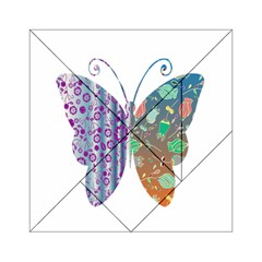 Vintage Style Floral Butterfly Acrylic Tangram Puzzle (6  X 6 )