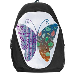 Vintage Style Floral Butterfly Backpack Bag