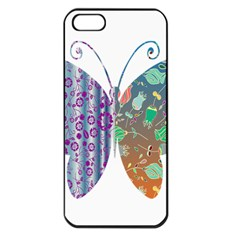 Vintage Style Floral Butterfly Apple Iphone 5 Seamless Case (black)