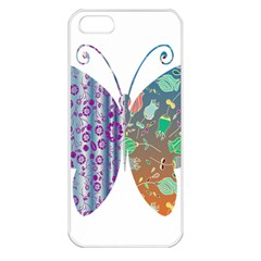 Vintage Style Floral Butterfly Apple Iphone 5 Seamless Case (white)