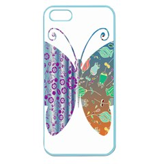 Vintage Style Floral Butterfly Apple Seamless Iphone 5 Case (color)