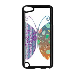 Vintage Style Floral Butterfly Apple Ipod Touch 5 Case (black)