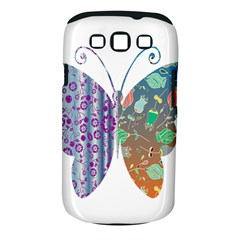 Vintage Style Floral Butterfly Samsung Galaxy S Iii Classic Hardshell Case (pc+silicone)