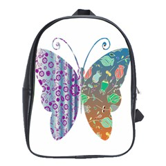 Vintage Style Floral Butterfly School Bags (xl)
