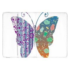 Vintage Style Floral Butterfly Samsung Galaxy Tab 8 9  P7300 Flip Case