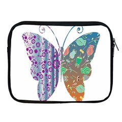 Vintage Style Floral Butterfly Apple Ipad 2/3/4 Zipper Cases