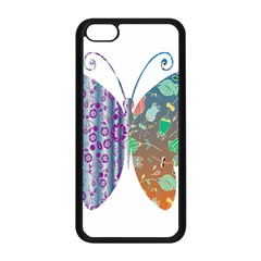 Vintage Style Floral Butterfly Apple Iphone 5c Seamless Case (black)